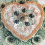 Läckerhjärtat med lax och räkor